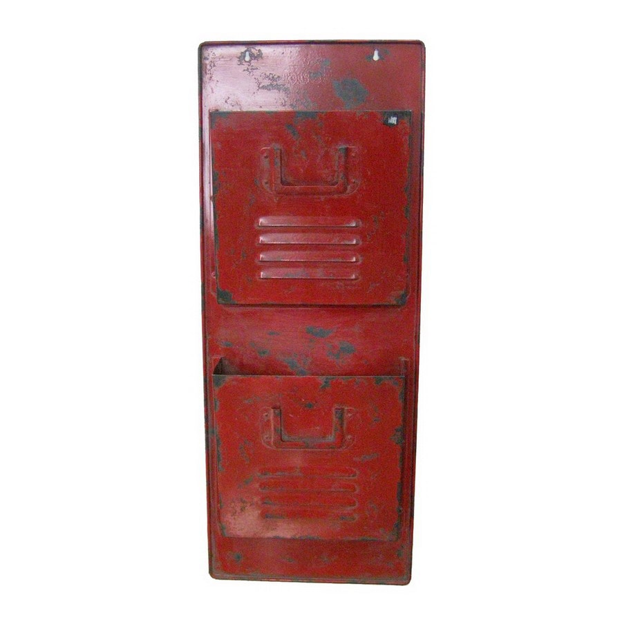 Cheung's 12.5-in x 31.5-in Metal Red Wall Mount Mailbox