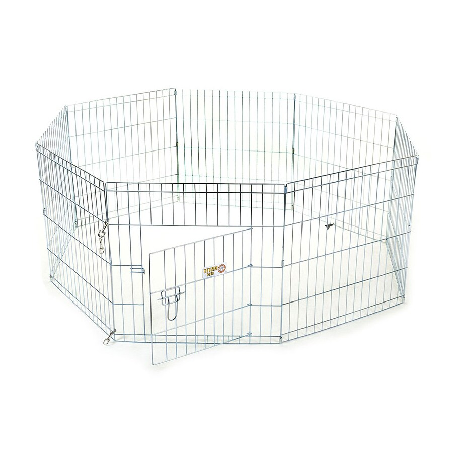 Majestic Pets 36-in Silver Wire Outdoor Exercise Pen