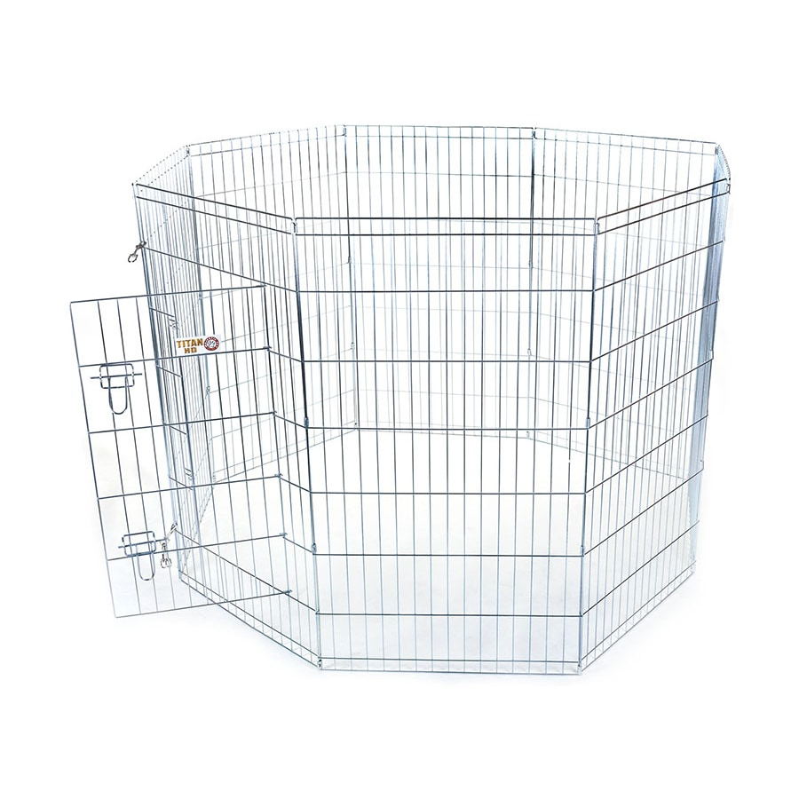 Majestic Pets 48-in Silver Wire Outdoor Exercise Pen