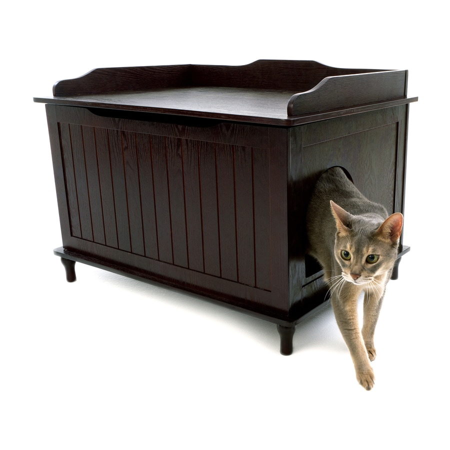 Shop designer pet products espresso litter box at - Modern kitty litter box ...