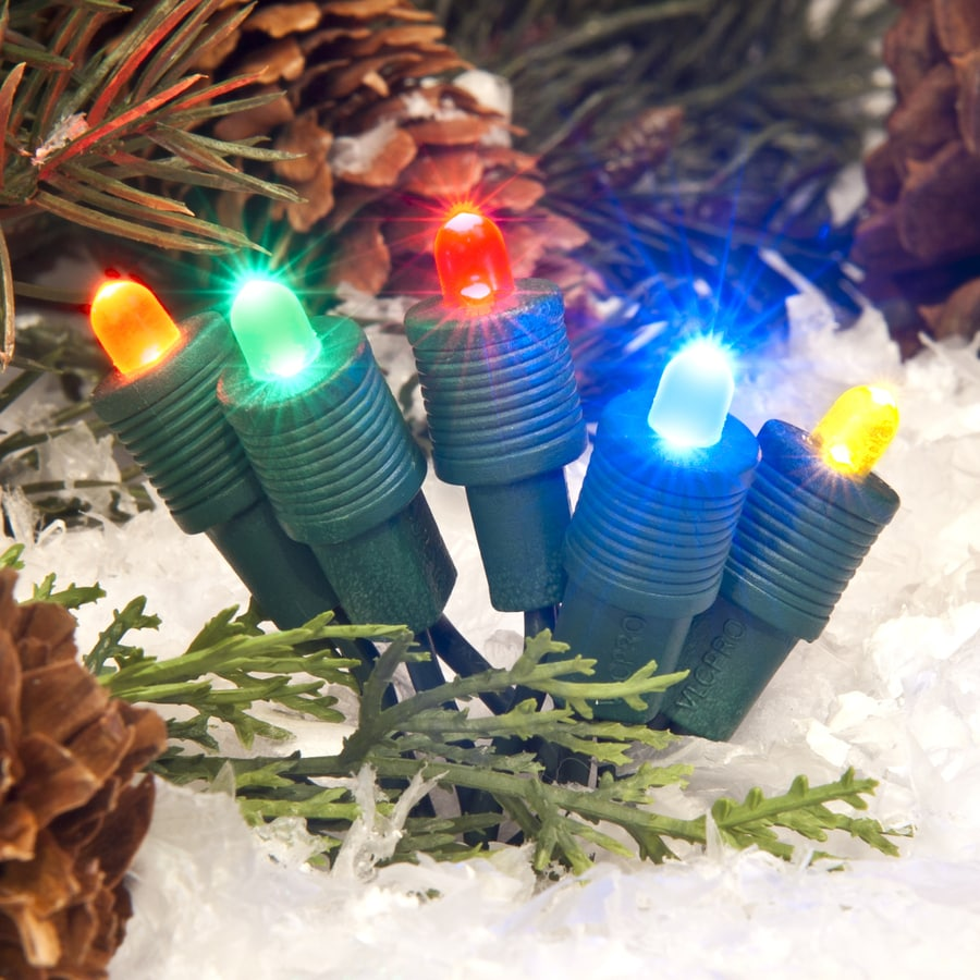 TreeKeeper 50-Count Constant Multicolor Mini LED Plug-in Christmas String Lights