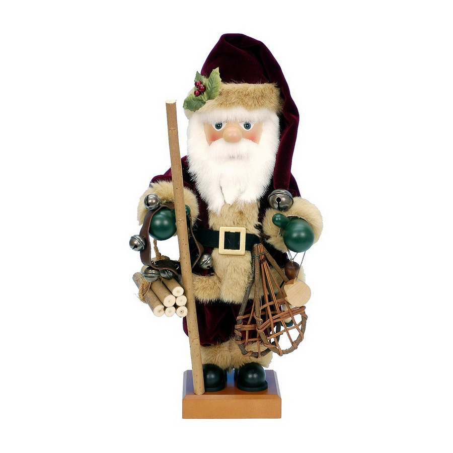 Alexander Taron Wood Nordic Santa Nutcracker Ornament