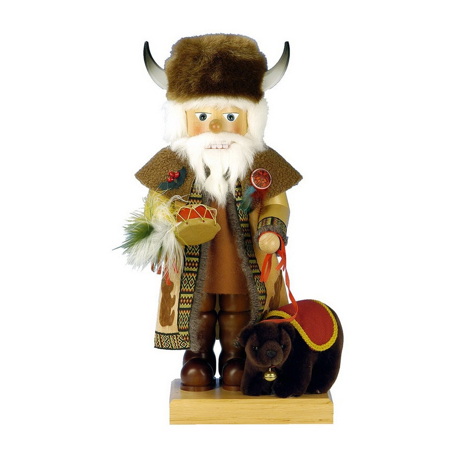 Alexander Taron Wood Buffalo Santa Nutcracker Ornament