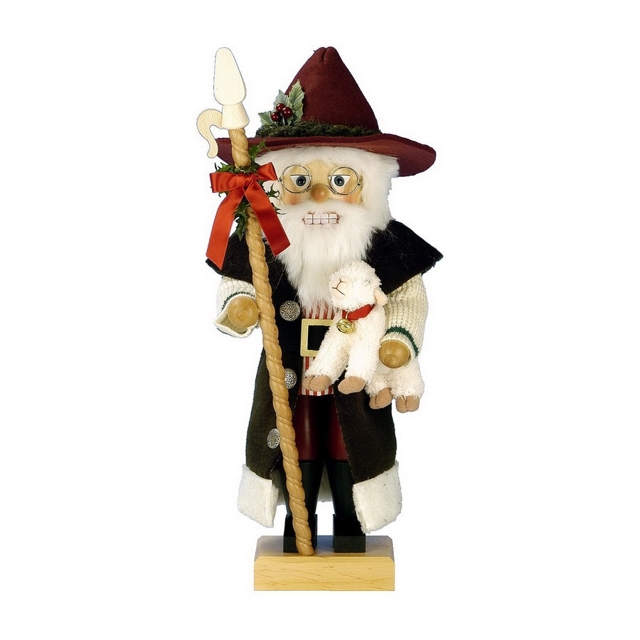 Alexander Taron 1-Piece Christian Ulbricht Tabletop Shepherd Santa Nutcracker Indoor Christmas Decoration
