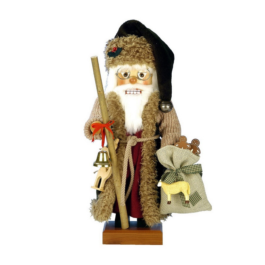 Alexander Taron Wood Wildlife Santa Nutcracker Ornament