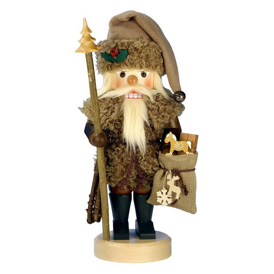 Alexander Taron Wood Wildlife Santa Natural Nutcracker Ornament