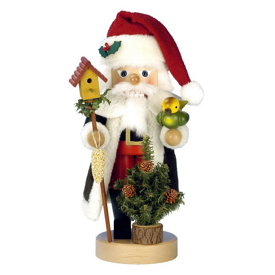 Alexander Taron 1-Piece Christian Ulbricht Tabletop Santa with Bird Nutcracker Indoor Christmas Decoration