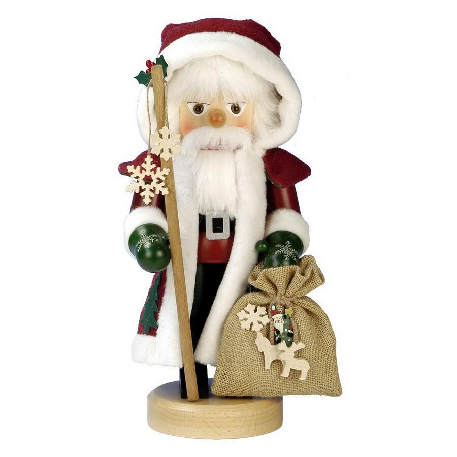 Alexander Taron Wood Santa Red Nutcracker Ornament