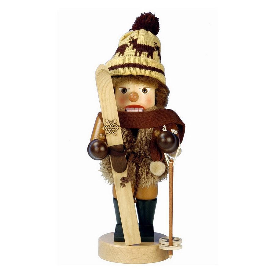 Alexander Taron Wood Skier Nutcracker Ornament