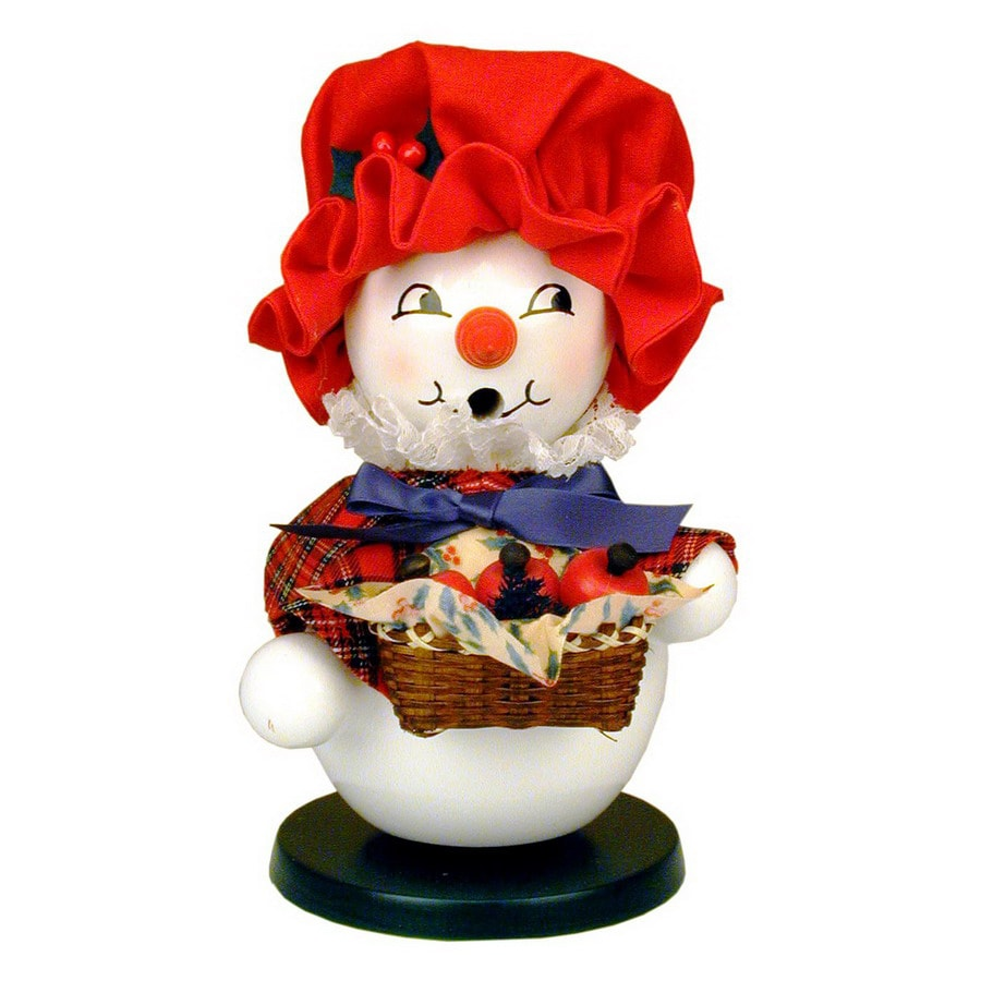 Alexander Taron 1-Piece Christian Ulbricht Tabletop Snow Woman Incense Burner Indoor Christmas Decoration