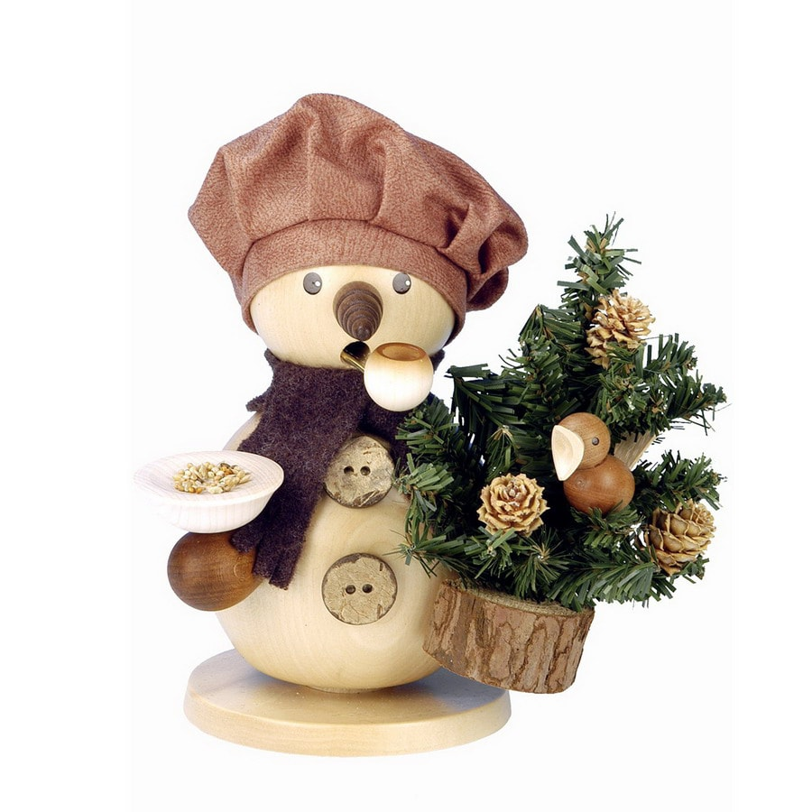 Alexander Taron Wood Snowman with Tree Ornament