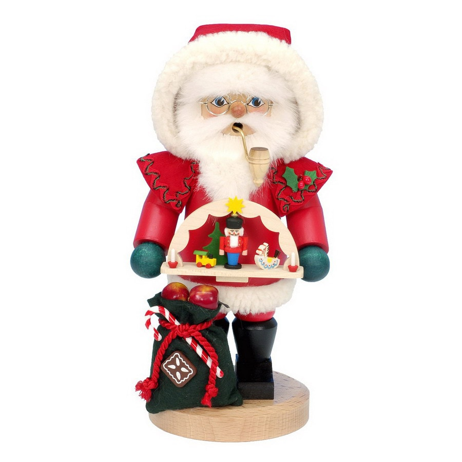 Alexander Taron Wood Santa with Toy Arch Smoker Ornament