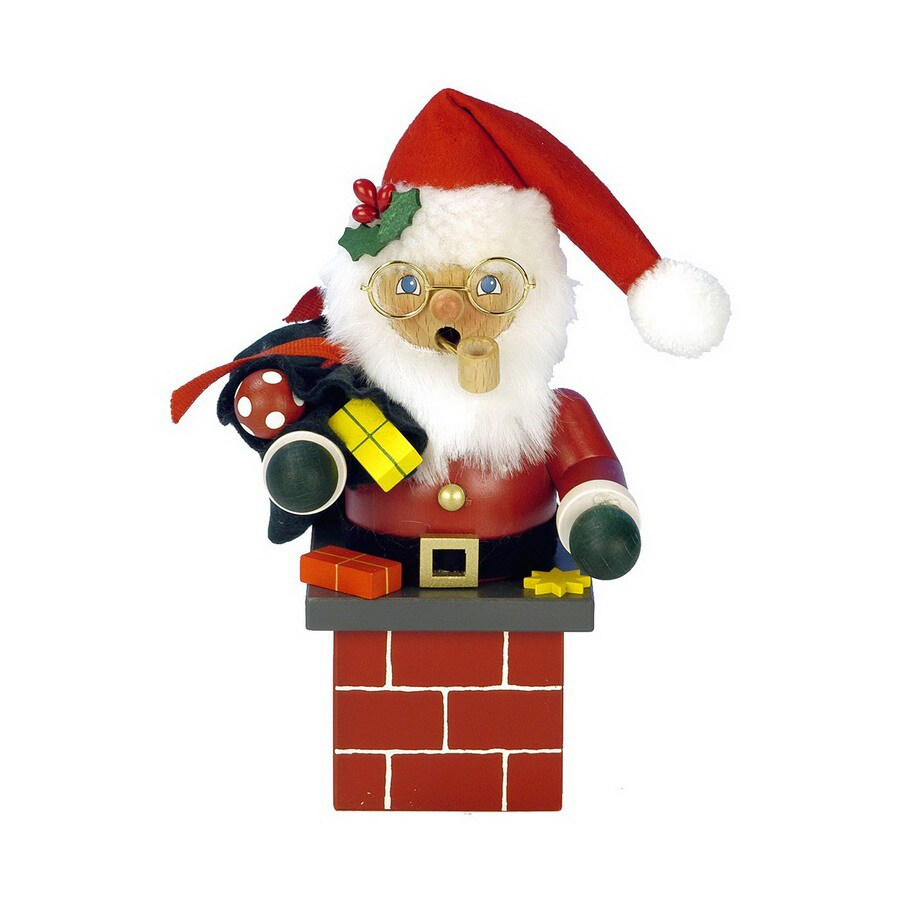Alexander Taron Wood Santa Chimney Red Smoker Ornament