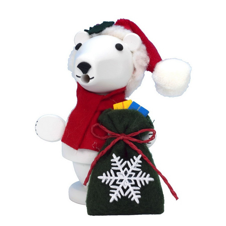 Alexander Taron Wood Mini Santa Polar Bear Smoker