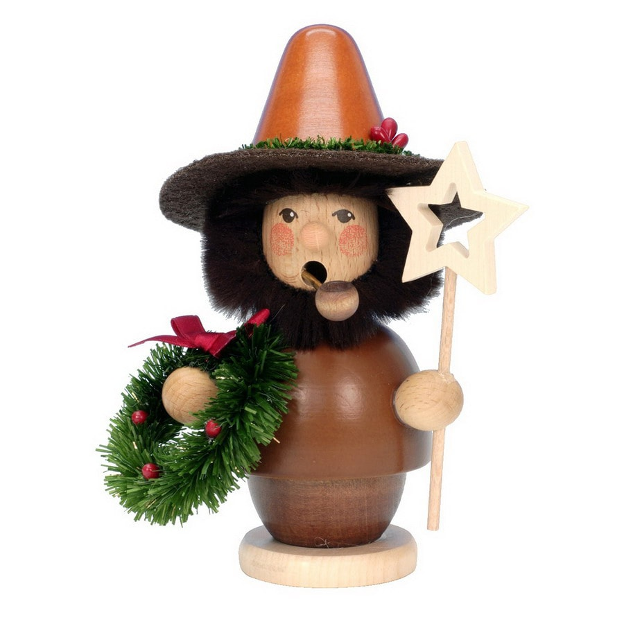 Alexander Taron Wood Mini Star Natural Smoker Ornament