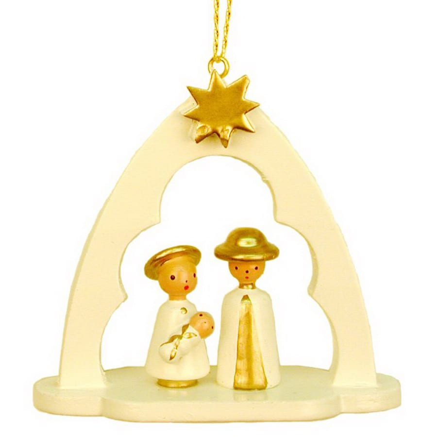 Alexander Taron Wood Nativity Arch Ornament