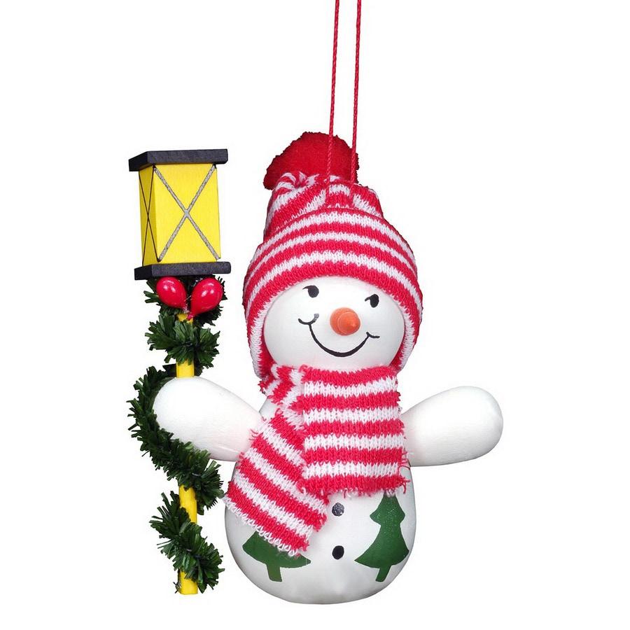 Alexander Taron Snowman with Lantern Ornament