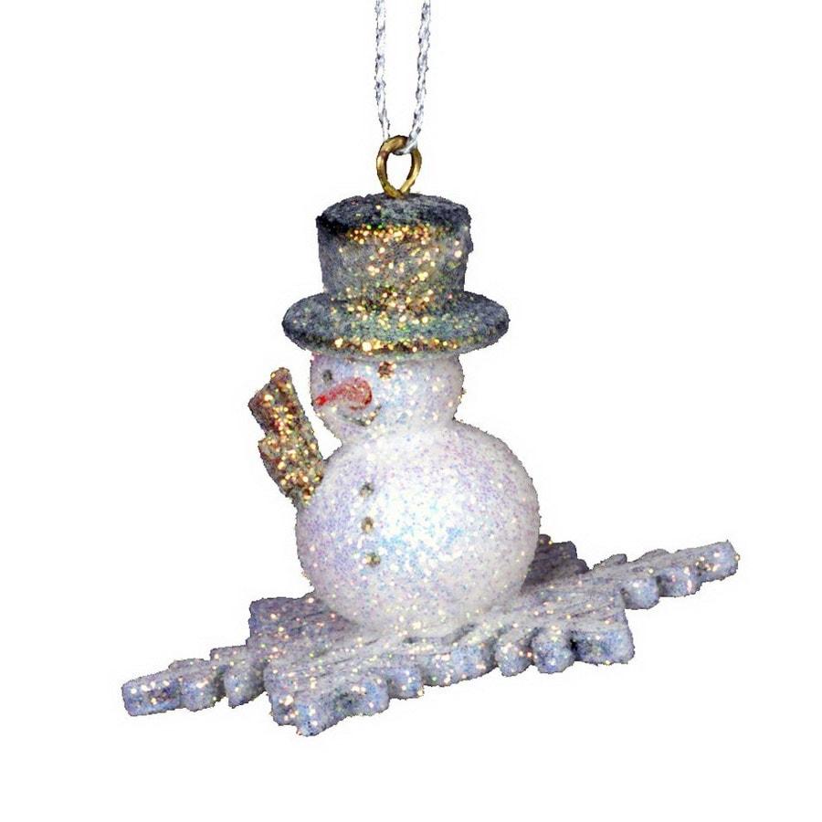 Alexander Taron Plastic Snowman Snowflake Ornament