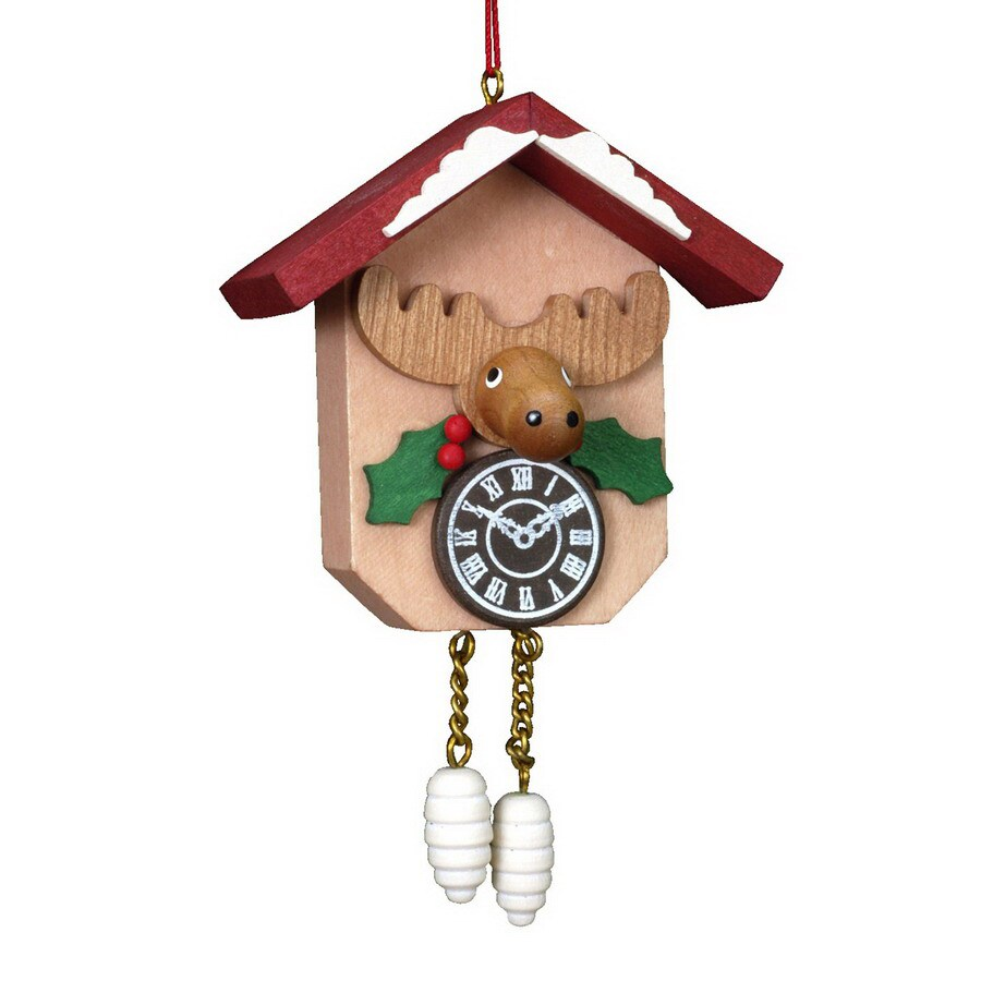 Alexander Taron Wood Cuckoo Clock Elk Ornament