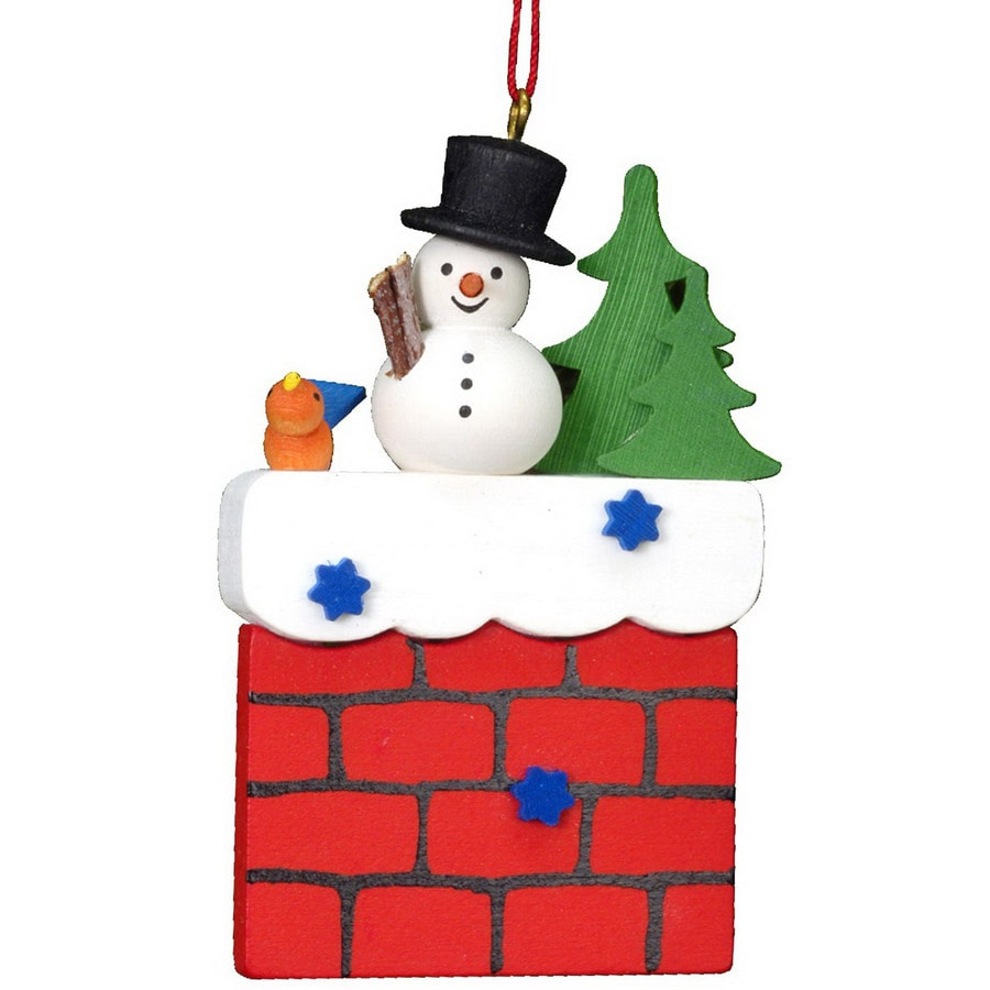 Alexander Taron Wood Snowman Chimney Ornament