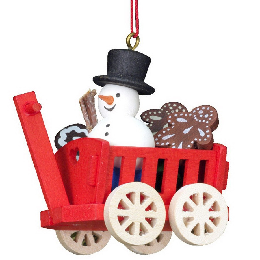 Alexander Taron 6-Pack Assorted Wood Wagons Ornaments