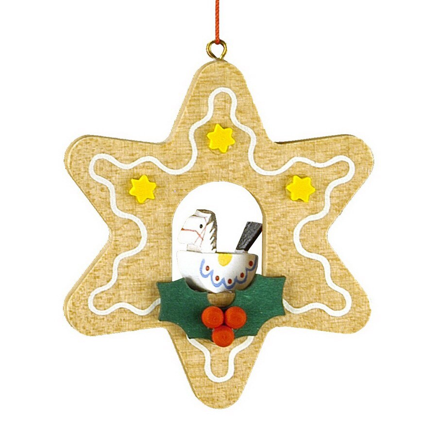 Alexander Taron Wood Toy Star Ornament