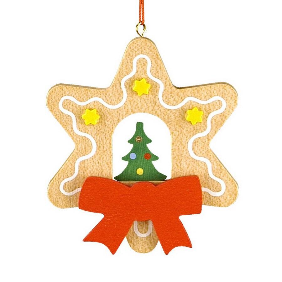 Alexander Taron Wood Tree Star Ornament