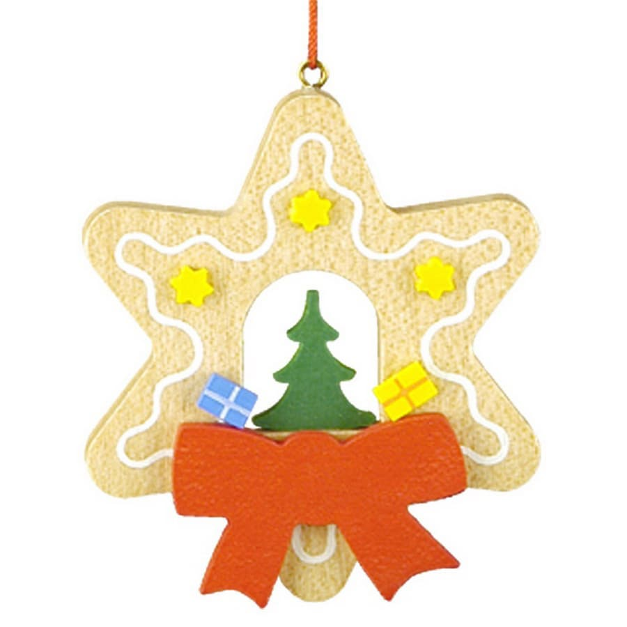 Alexander Taron Wood Tree Star Ornament