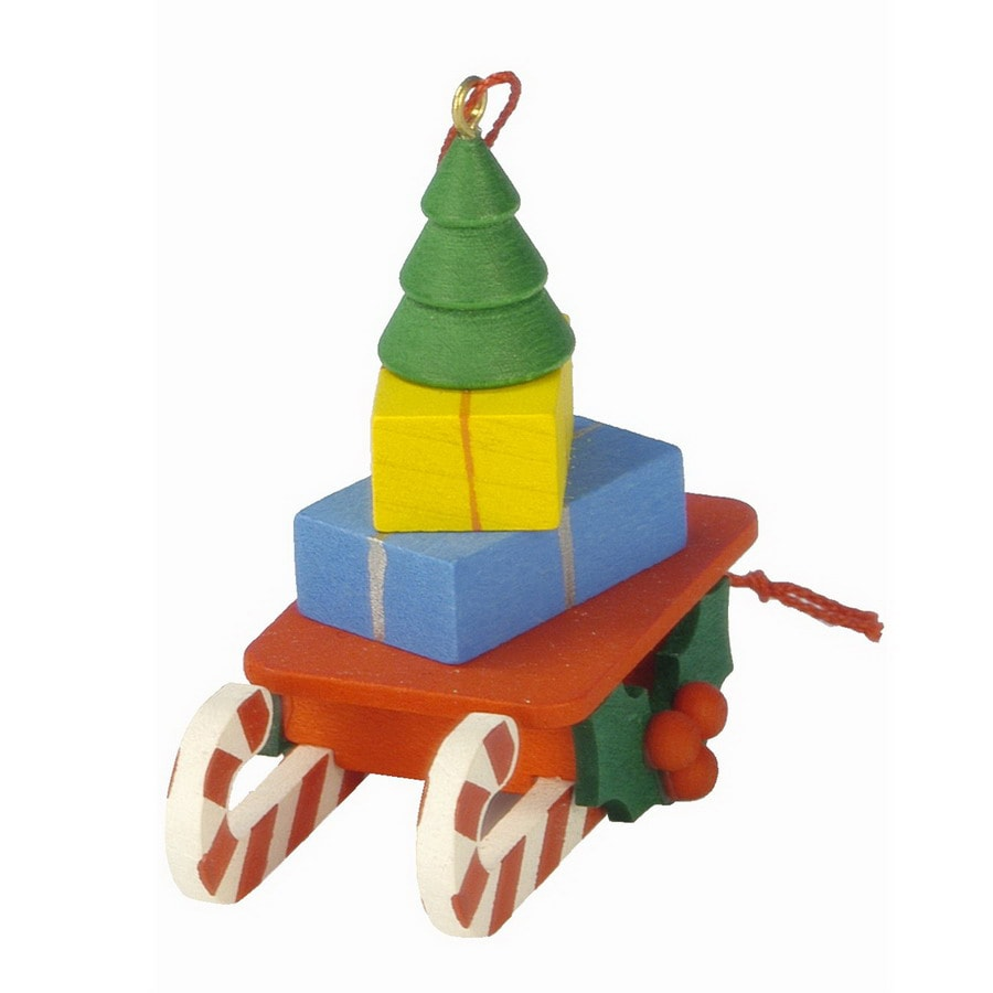 Alexander Taron Plastic Toy Tree Sled Ornament