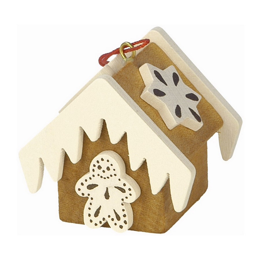 Alexander Taron Wood Gingerbread House Ornament