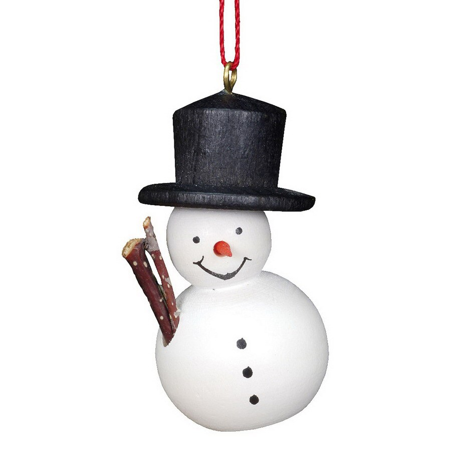 Alexander Taron Black Wood Snowman Ornament