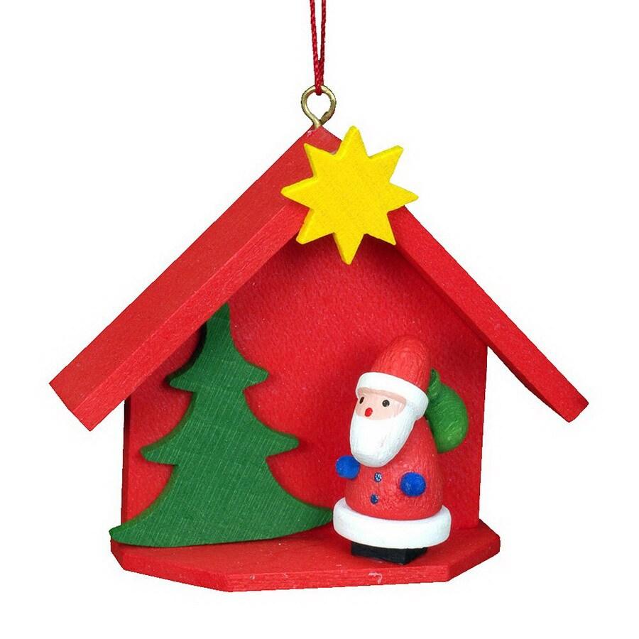Alexander Taron Plastic Santa House Ornament