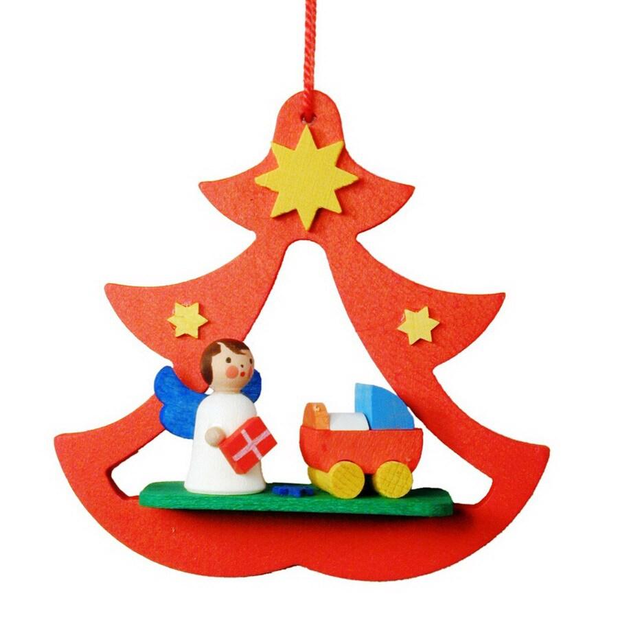Alexander Taron Wood Angel Tree Ornament
