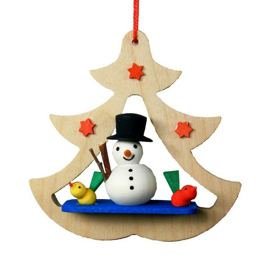 Alexander Taron Wood Snowman Tree Ornament