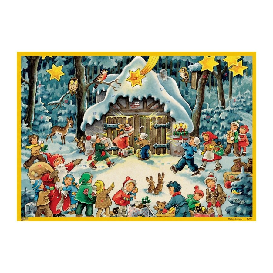 Alexander Taron Santa with Children Winter Scene Advent Calendar