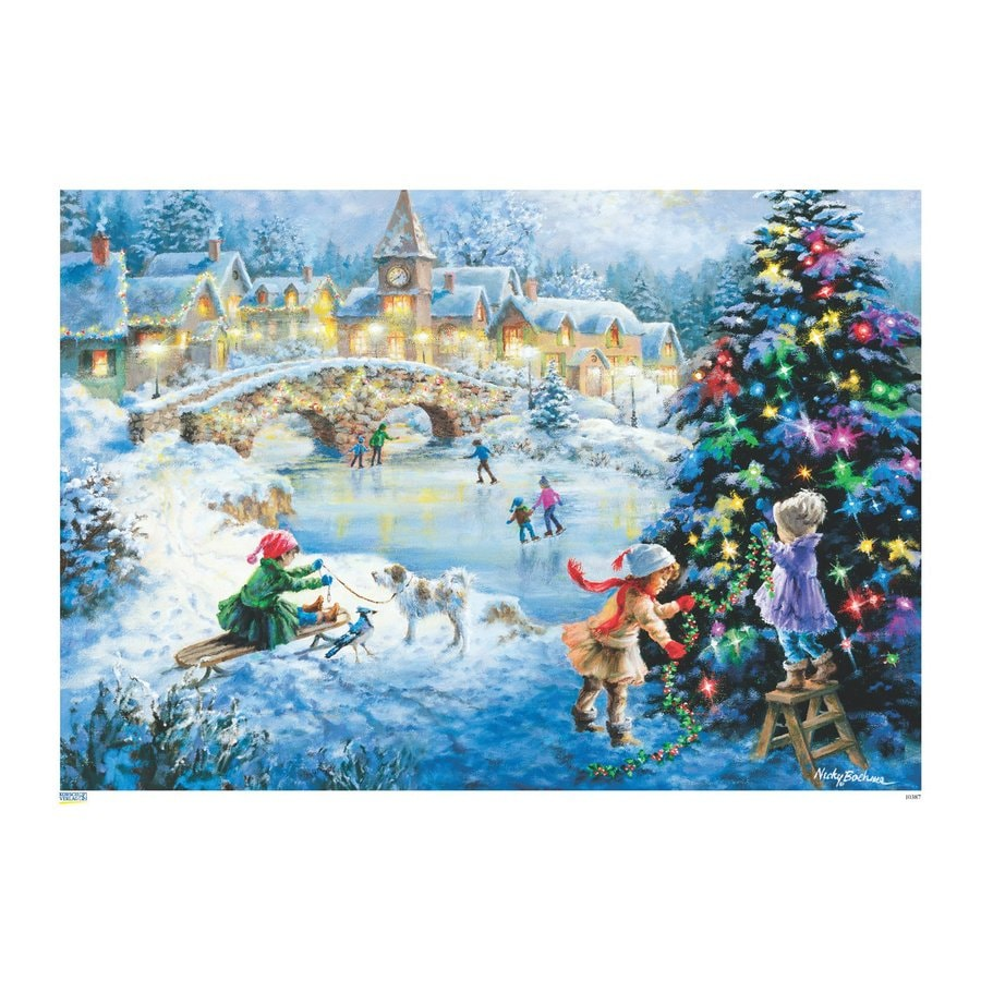 Alexander Taron Skating Scene Winter Scene Advent Calendar