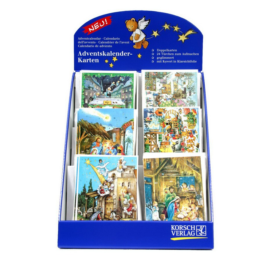 Alexander Taron 60-Pack Small Advent Calendar with Display Box Ornaments