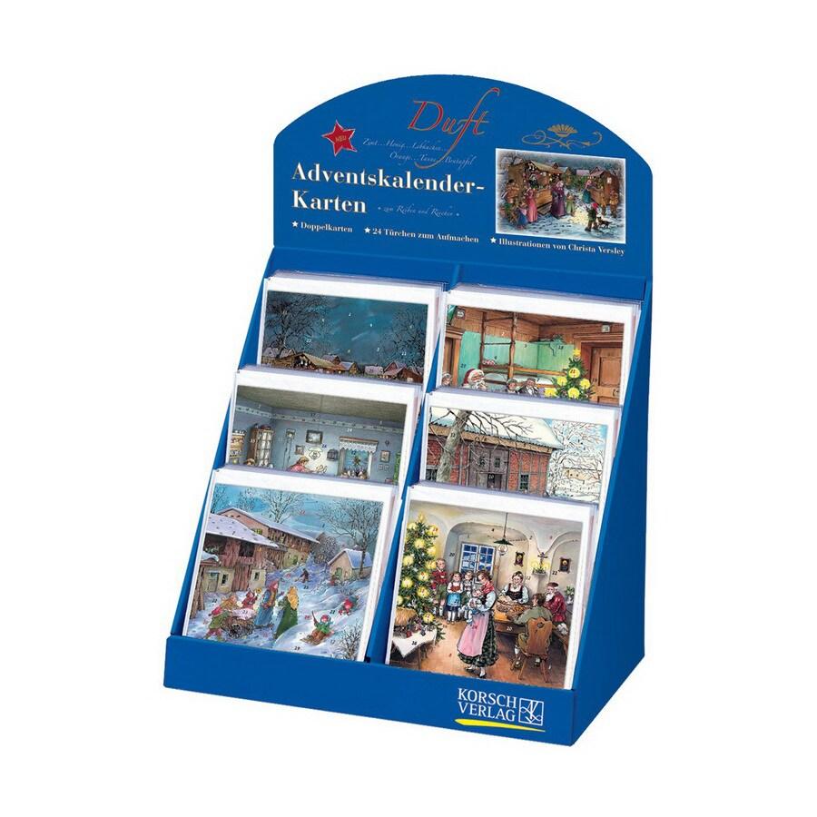 Alexander Taron 60-Pack Scented Advent Calendar Card Ornaments