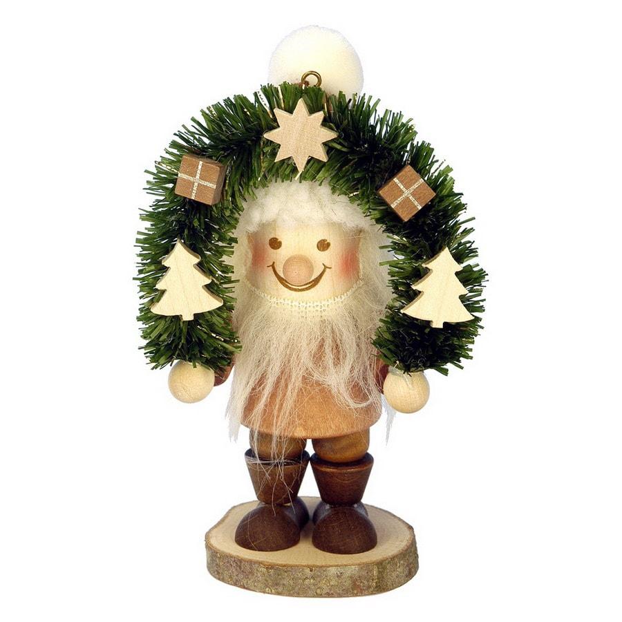 Alexander Taron Wood Santa Ornament