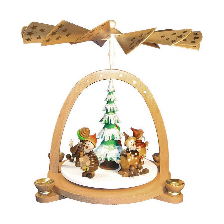 Alexander Taron Wood 5-Dwarf Smokers Pyramid Ornament
