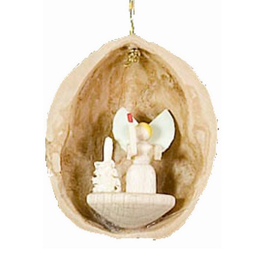 Alexander Taron Wood Angel Nutshell Ornament