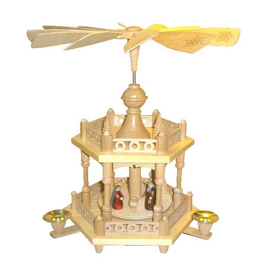Alexander Taron Wood Nativity Colonel Pyramid