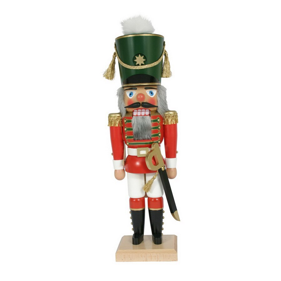 Alexander Taron Wood Guard Soldier Nutcracker Ornament