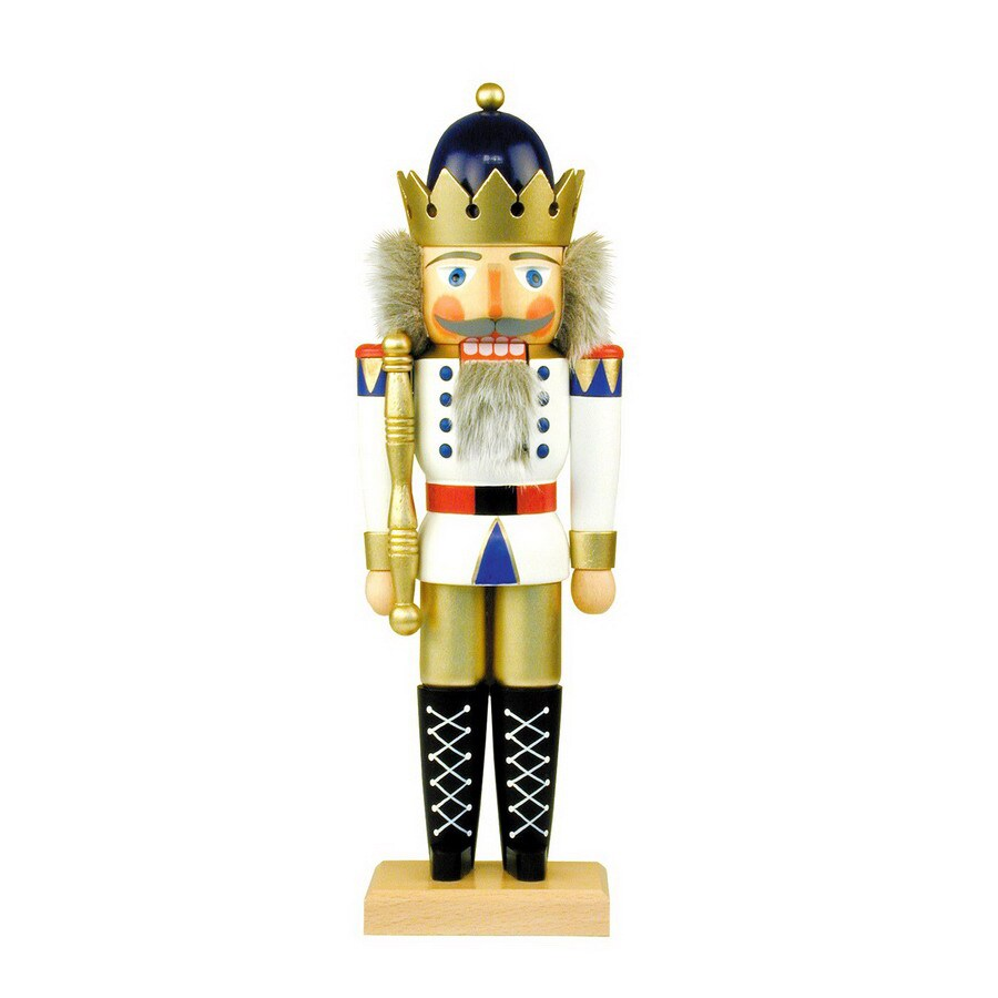 Alexander Taron Wood King White Nutcracker Ornament