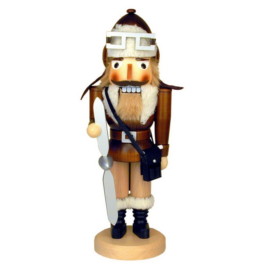 Alexander Taron Wood Aviator Natural Nutcracker Ornament