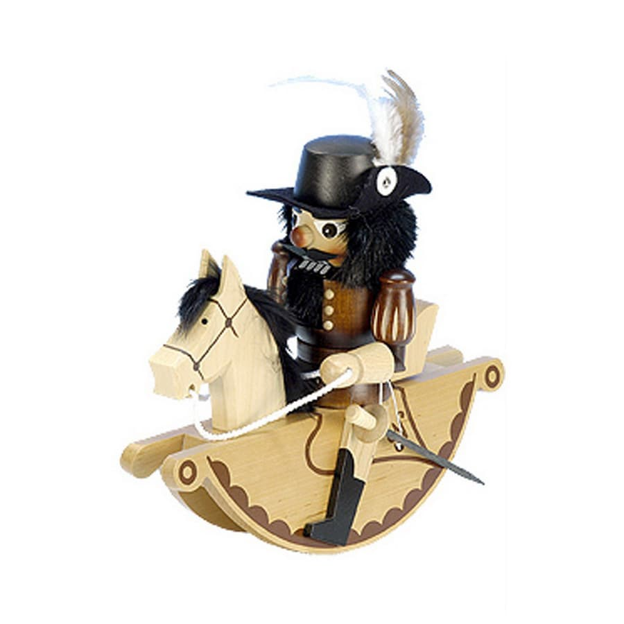 Alexander Taron Wood Rider Musketeer Natural Nutcracker Ornament