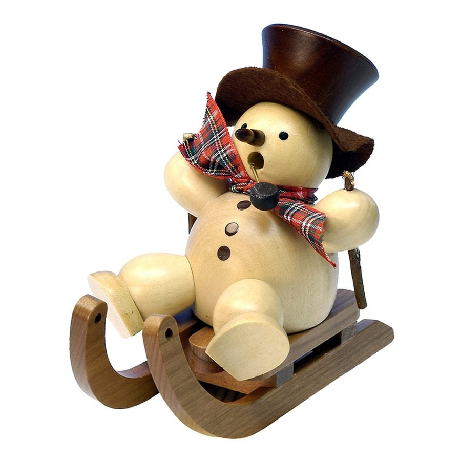 Alexander Taron Snowman On Sled Snowman Incense Burner