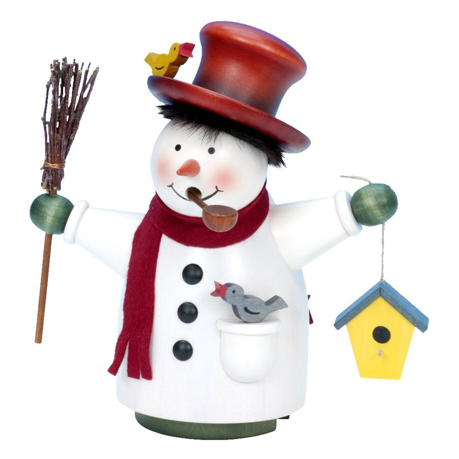 Alexander Taron Snowman with Birdhouse Snowman Incense Burner