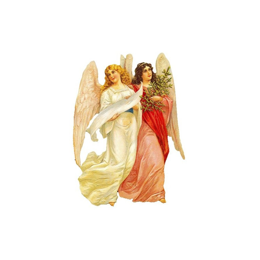 Alexander Taron 2-Angels Standing Christmas Card