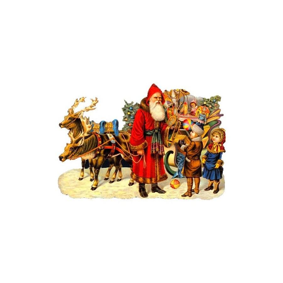 Alexander Taron Sleigh Kids Standing Christmas Card Ornament